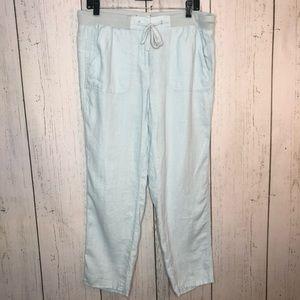 Anthropologie Lou & Grey Baby Blue linen pants